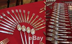 Georg Jensen Acorn Sterling Silver 269 Piece Flatware Set 320 Oz