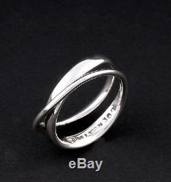Georg Jensen Sterling Ring # 369. Modern. Silver. Möbius. Vivianna Torun. New