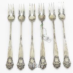 Georgian Trademark Vtg 925 Sterling Silver Set of 6 Three Tine Dessert Forks