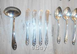 Gorham Sterling Silver Flatware Lily Of The Valley 56 Pieces Service For 8