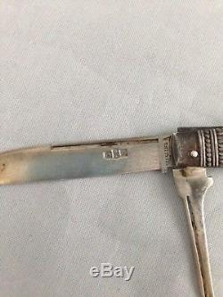 Gorham Sterling Silver Fruit or Pocket Knife in the Japanese Pattern, circa 1875
