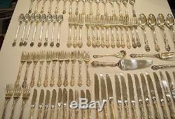 Gorham Sterling Silver King Edward Flatware Service 84 Pieces