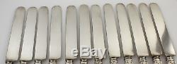Gorham Strasbourg Sterling Silver Dinner Knives 9 3/4 Set of 12 withMono