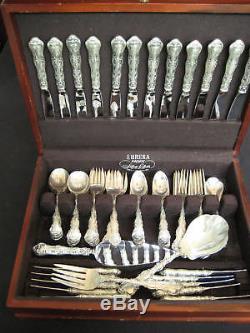 Gorham Strasbourg Sterling Silver Flatware Set 81 Pcs