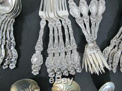 Gorham Whiting Lily sterling silver 32pc flatware set MINT CINDITION