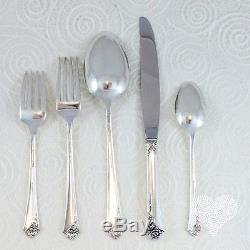 Heirloom Sterling DAMASK ROSE Vintage Sterling Silver Flatware Set 217-2