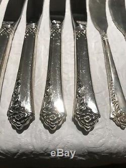 Heirloom Sterling Silver by Oneida (Damask Rose) Pattern 90++ Piece Flatware