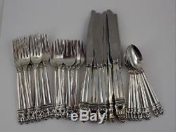 International Royal Danish Sterling Silver 32 Piece Set 8 Place Settings