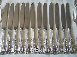 International Sterling Silver Joan Of Arc Pattern Flatware 72 pc Set For 12