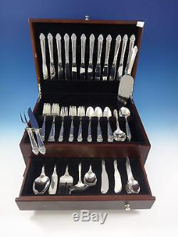King Cedric by Oneida Sterling Silver Flatware Service For 12 Set 92 Pieces