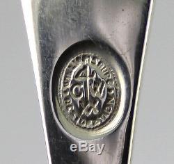 Kirk Stieff Williamsburg Restorations Shell sterling silver flatware set 41pc