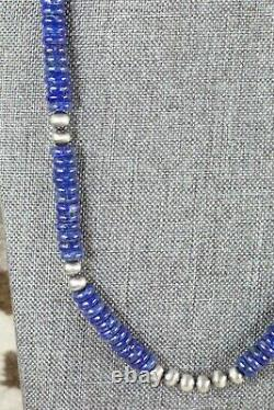 Lapis & Sterling Silver Necklace Navajo