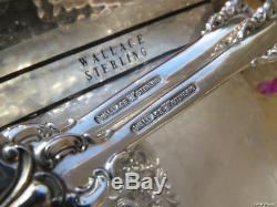 Large Tomato Server Pierced Wallace Grand Baroque Sterling Silver Server Heavy