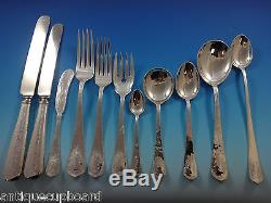 Lebolt Sterling Silver Flatware Set Hand Wrought Chicago 204 Pcs Arts & Crafts
