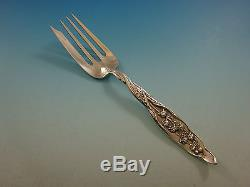 Lily of the Valley by Whiting Sterling Silver Flatware Set Service 107 PC Dinner