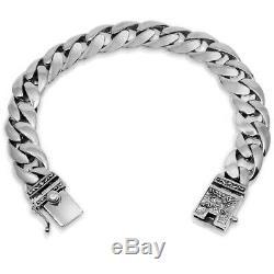 Men Bracelet 925 Solid Sterling Silver Heavy Classic Link size 7.5 8.5 10.5 11