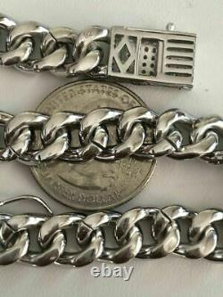 Mens Miami Cuban Link Bracelet Solid 925 St Sterling Silver ICY Diamonds 10mm
