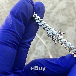 Mens Real Solid 925 Sterling Silver Miami Cuban Link Chain Italy Necklace 20