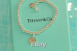 Mini Heart Tag Bracelet Enamel 925 Solid Sterling Silver 16cm RED