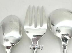 Modern Victorian Sterling Silver 9pc Silverware Set by Lunt Silversmiths 1941