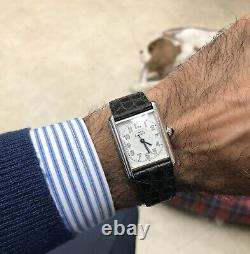 Must de Cartier Argent Tank Watch 2414 Sterling Silver