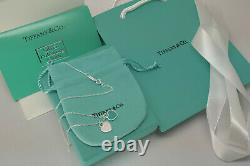 NEW Tiffany & Co 18 Sterling Silver Chain Necklace Everything included
