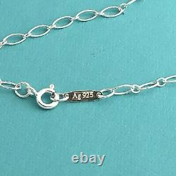 NEW Tiffany & Co 18 Sterling Silver Oval Link Chain Necklace