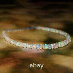 Natural Ethiopian Opal Bracelet 925 Sterling Silver Healing Gemstone Jewelry 8