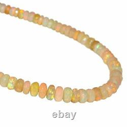 Natural Ethiopian Opal Necklace 925 Sterling Silver Healing Gemstone Women Gift