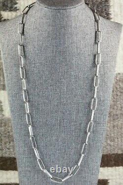 Navajo Sterling Silver Chain Necklace Sally Shurley