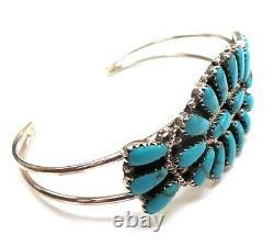 Navajo Sterling Silver Navajo Cluster Bracelet Turquoise Rosanna Williams