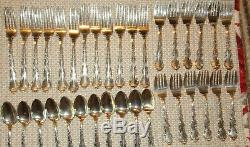 Never Used Strasbourg Gorham 77 piece Sterling Silver Flatware & 12 piece set