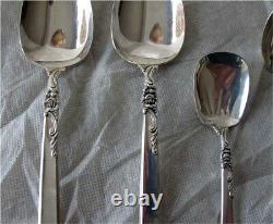 Oneida Heirloom Silver Rose Sterling Silver Flatware for 8 / 46 pc. 1602gr