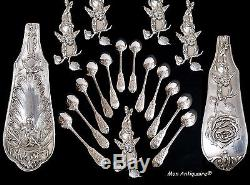 PUIFORCAT Cherub Angel Antique French Sterling Silver Coffee spoons Flatware Set
