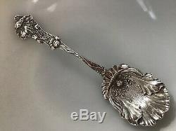 Paye & Baker POPPY Sterling Silver Figural Floral Sugar Spoon Nouveau NO MONO