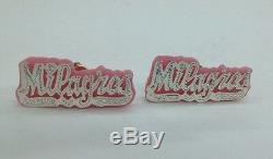 Personalized Sterling Silver Color Background Name Earrings