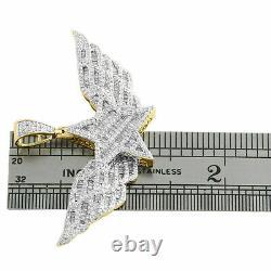 Polki Diamond 14k Gold Plating Over 925 Sterling Silver Pendant Charm