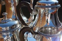 Puiforcat Majestic 950 Fine Sterling Silver Five-Pieces Coffe and Tea Service