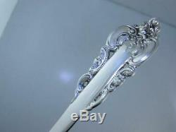 RARE Sterling WALLACE 7 1/8 Solid Fish Fork GRANDE BAROQUE $149 each