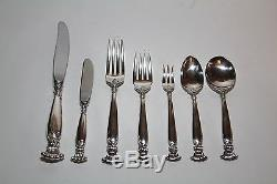 ROMANCE OF THE SEA by Wallace Sterling Silver Flatware Service Set 68 Pieces