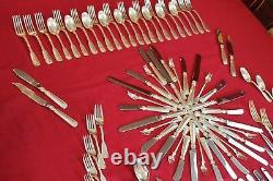 Rare Tiffany & Co. Sterling Silver Shell & Thread Flatware 124 Pc Silverware Set