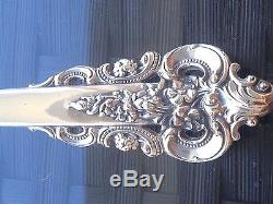 Rare Wallace Grand Grande Baroque Oval Place Soup Spoon Sterling Silver Dinner
