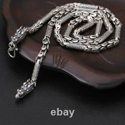 Real 925 Sterling Silver Necklace Well Sign Dragon Squama Chain 20 30