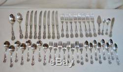 Reed & Barton FRANCIS 1st Sterling Silver Vintage Flatware 46 Pcs No Mono