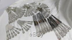 Reed and Barton Burgundy Sterling Silver Flatware Set Service For 12 60 pcs