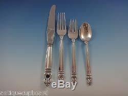 Royal Danish by International Sterling Silver Flatware Set 8 Service 64 Pcs