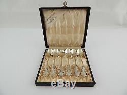Servizio Art Deco 6 Cucchiaini Caffe' In Argento 925 Cohr 1930 Sterling Silver