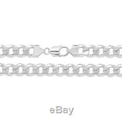 Solid Sterling Silver 8.5 Inch Men's Chunky Curb Bracelet Heavy