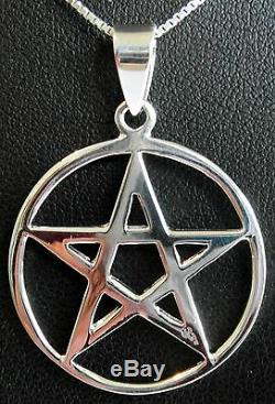 Sterling Silver (925) Pentagram Pendant (12 mm) + 925 Silver 18 Necklace