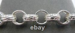 Sterling Silver Belcher Plain & Patterned Chain 30- 125 grams Solid